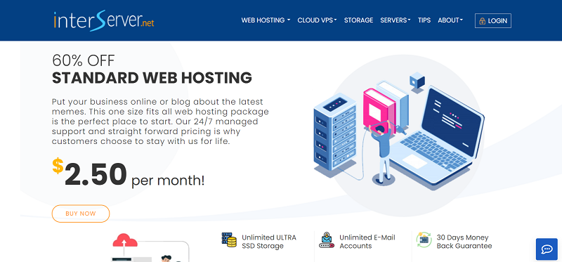 Interserver Hosting Plans