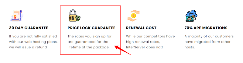 InterServer Price Lock Guarantee